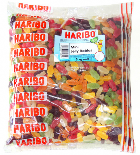 Q37  HARIBO MINI JELLY BABIES (TINY TOTS) 3kg